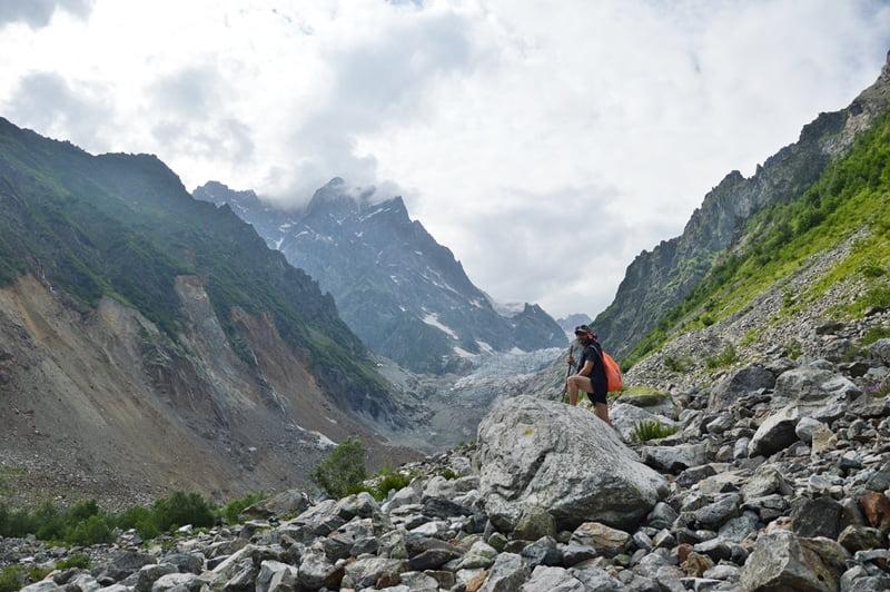 Тропа к Чалаадскому леднику