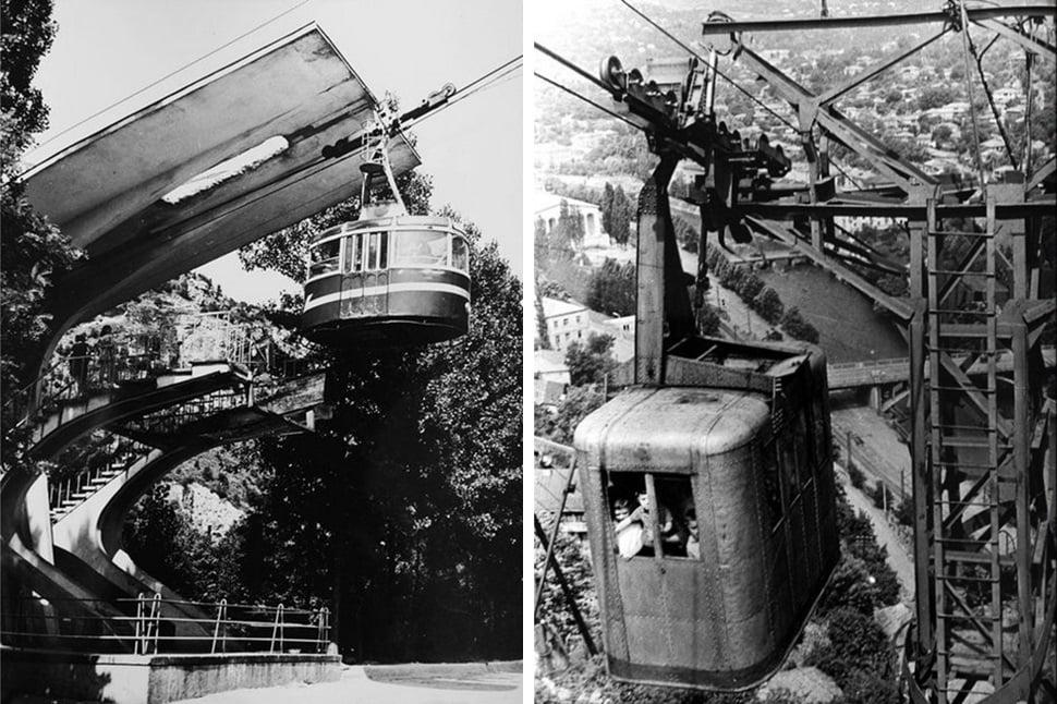 канатная дорога в Читатуре в 50-е годы
