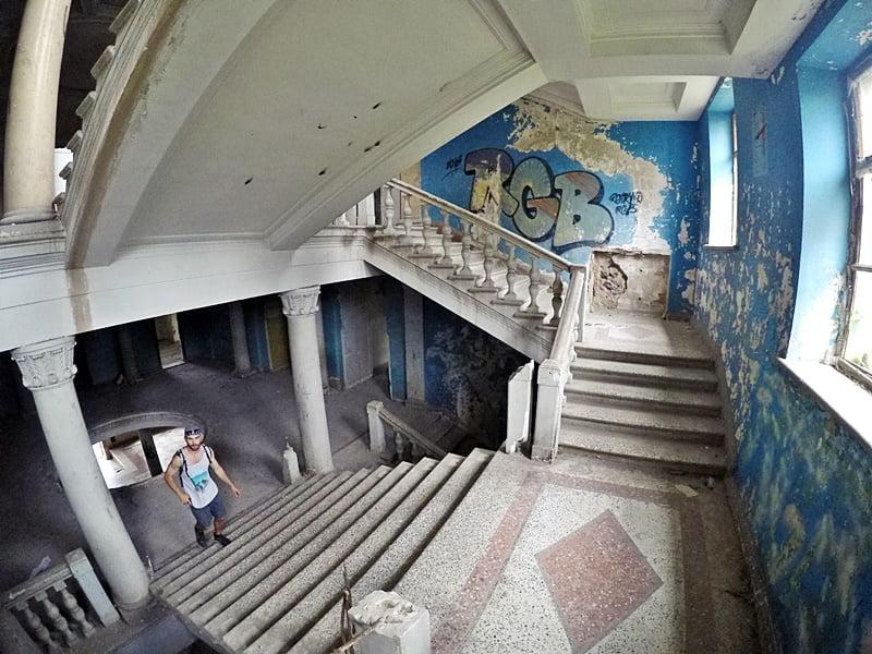 """Лестница в санатории """"Иверия"""""""