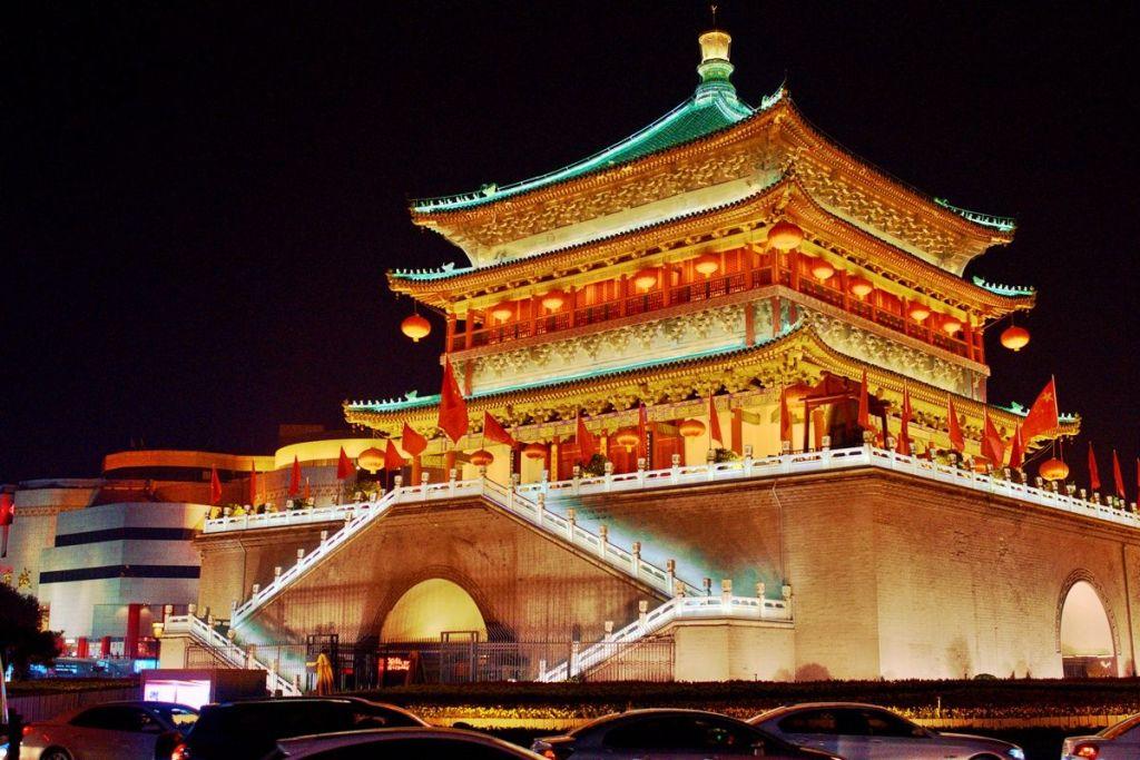 Центр города и Барабанная башня Сиань