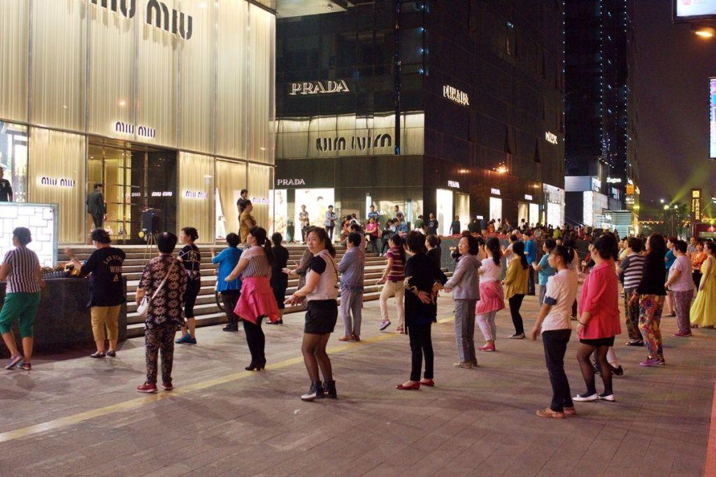 Коллективные физические упражнения в Китае