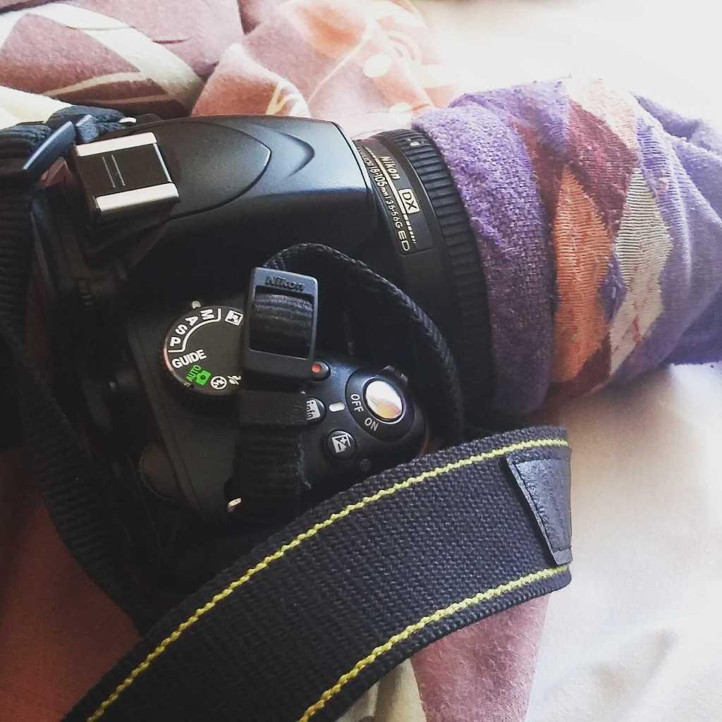 Камера с носком на объективе