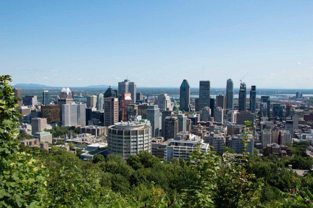 Панорама города Монреаль