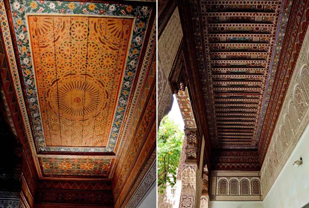 Деревянный резной потолок в странах Магриба