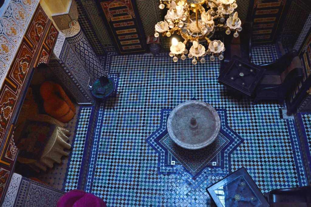 Патио в риаде Марокко