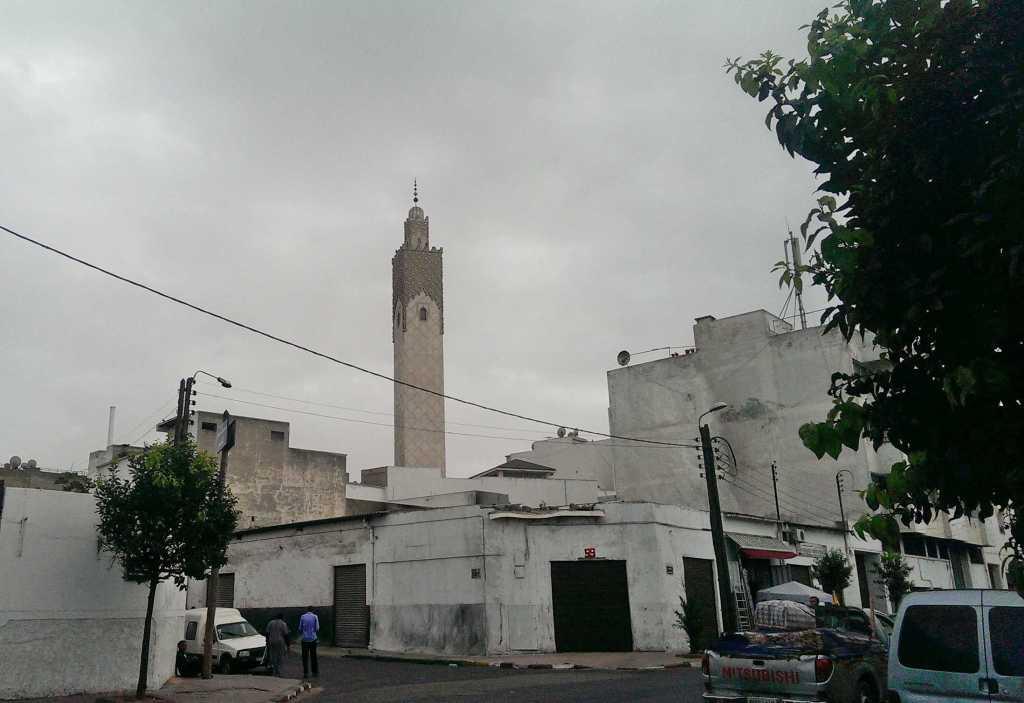 Мечеть среди белых домов