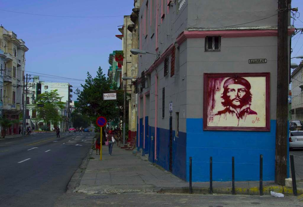 Портрет Че Гевары на стене
