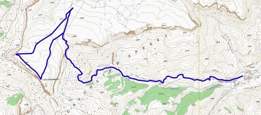 поход на плато бермамыт
