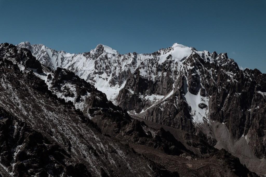 высокие пики Киргизии