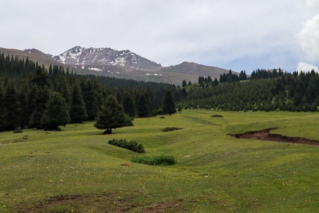 Горный пейзаж Киргизии