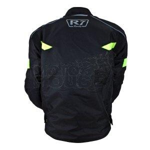 Chamarra Para Motociclismo R7 Mod. 212 Negro/verde