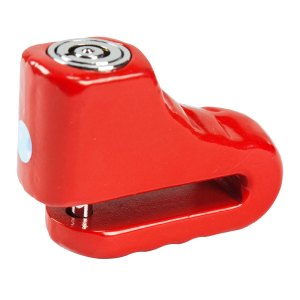 Candado De Disco Para Motocicleta Promoto 5mm Rojo
