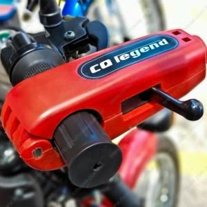 Candado Para Manillar Para Motocicleta Rojo