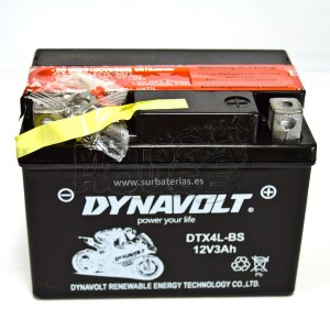 Bateria De Gel Para Motocicleta Dynavolt  (ytx4l-bs)