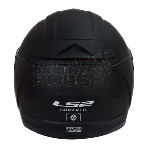 Casco Integral P/ Moto Ls2 Ff390 Breaker Solid Negro Mate