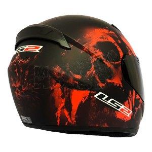 Casco P/ Motociclismo Integral Ls2 Ff352 Rookie Skull Rojo