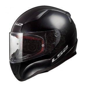 Casco Integral Ls2 Ff353 Rapid Solid Negro Brillante