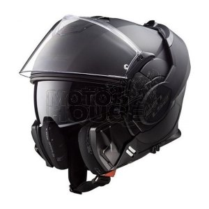 Casco Moto Abatible Ls2 Ff399 Valiant Noir Negro Mate