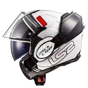 Casco Moto Abatible Ls2 Ff399 Valiant Prox Blanco/rojo