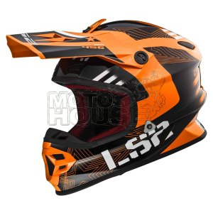 Casco Cross Ls2 Mx456 Light Evo Rallie Negro/naranja