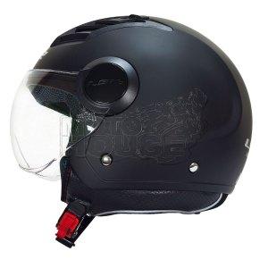 Casco Jet Para Motociclismo Of562 Airflow Ls2 Negro Mate