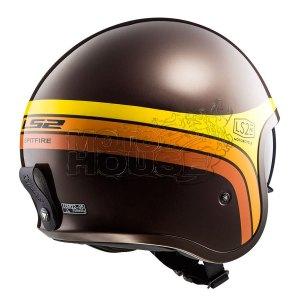 Casco Jet Motociclismo Ls2 Of599 Spitfire Sunrise Cafe/nja