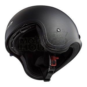 Casco Jet Motociclismo Ls2 Of599 Spitfire Solid Negro Mate