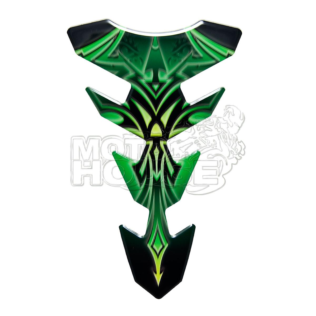 Protector De Tanque Print Mod. Expression Greca Verde