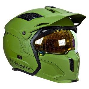 Casco Modular Mt Helmets Streetfighter Sv Solid Verde