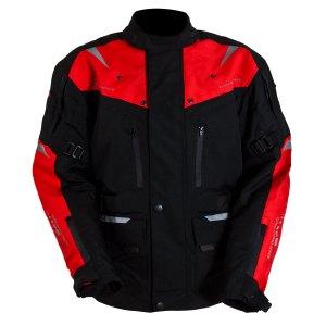 Chamarra Motociclismo Caballero Tuono Mod. Sorrento Rojo