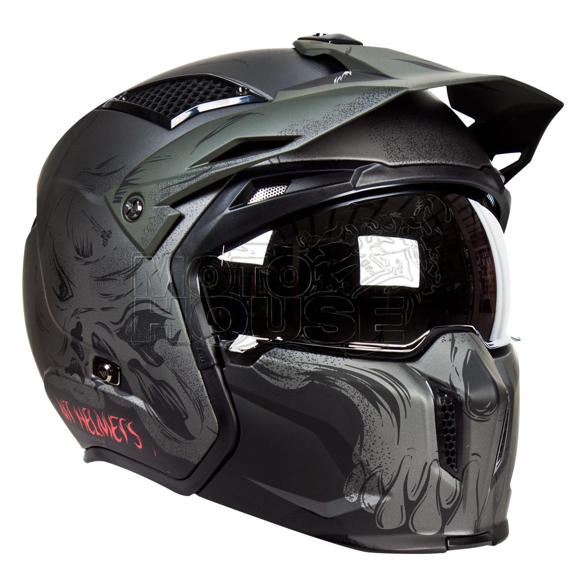 Casco Modular Mt Helmets Streetfighter Darkness Gris