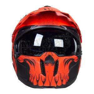 Casco Modular Mt Helmets Streetfighter Darkness Rojo