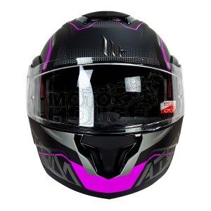 Casco Abatible Mt Helmets Atom Quark Negro/Rosa