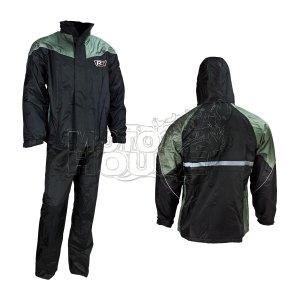 Impermeable De 2 Piezas R7 Racing Premium Negro/gris
