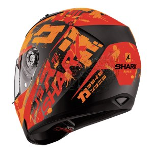 Casco Integral Shark Ridill Kengal Naranja/negro