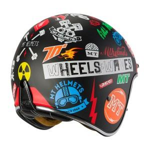 Casco Jet Mt Helmets Le Mans 2 Sv Anarchy Negro Mate