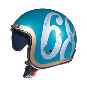 Casco Jet Mt Helmets Le Mans 2 Sv Hipster Verde Brillante