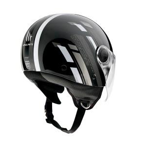 Casco Jet Mt Helmets Street Scope Gris Brillante