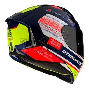 Casco Integral Mt Helmets Revenge 2 Rs Azul Perla Brillante
