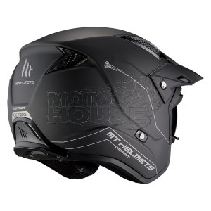 Casco Jet Mt Helmets District Sv Solid Negro Mate