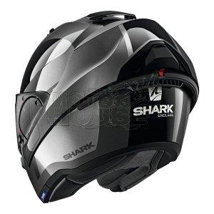 Casco Abatible Shark Evo Es Endless Negro/gris