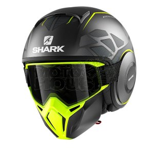 Casco Modular Shark Street Drak Hurok Antracita/amarillo