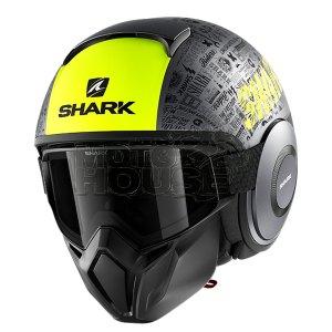Casco Modular Shark Street Drak Tribute Rm Antracita/ama