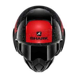 Casco Modular Shark Street Drak Tribute Rm Negro/rojo