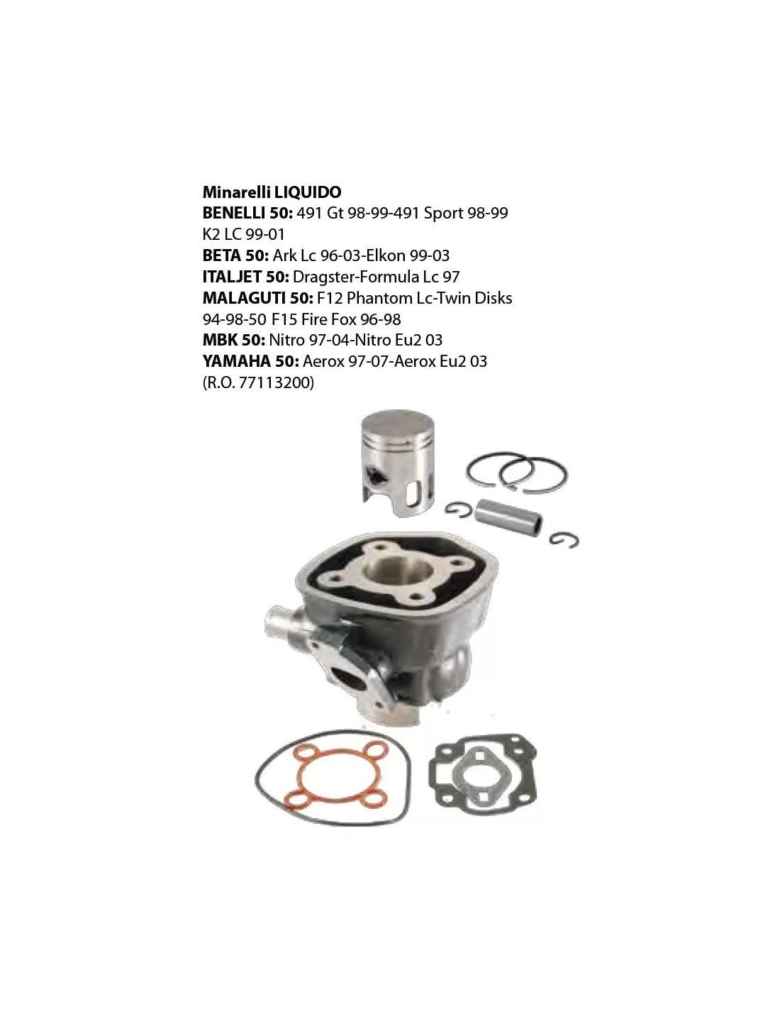 Cylindre Et Piston Minarelli H2o F12 F15 Nitro Aerox La