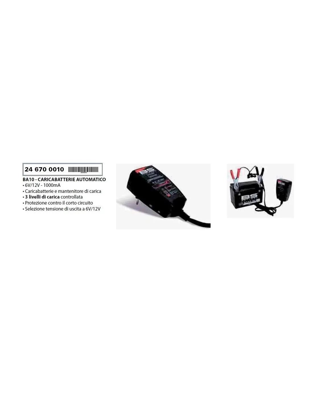 Battery Charger And Maintainer Statement For Motorcycles