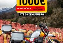 Campanha Moto Guzzi V85TT com oferta de acessórios