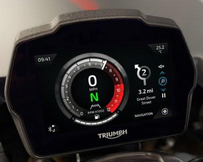 Speed Triple 1200 RS Instruments - Cobalt theme - Navigation