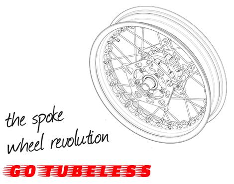 Kineoホイールのチューブレスタイヤが履けるスポークリム