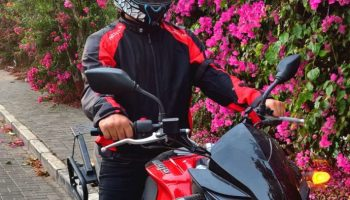 MotoTech Scrambler Air Motorcycle Jacket Red